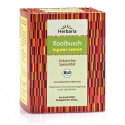Organický zázvorovo-citrónový Rooibos 15 čajových vreciek