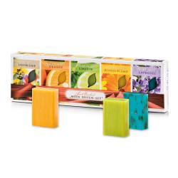 Darčekové balenie mydiel, Lúčne kvetinové mydlo50g+Pomarančové mydlo50g+Limetkovémydlo50g+Nechtíkové mydlo 50g+Levanduľovémydlo50g